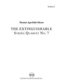 Thomas Agerfeldt Olesen: String Quartet No.7 'The Extinguishable' (Parts) Books   String Quartet
