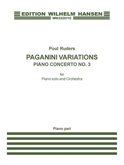 Poul Ruders: Paganini Variations - Piano Concerto No.3 (Piano Solo) Books | Piano