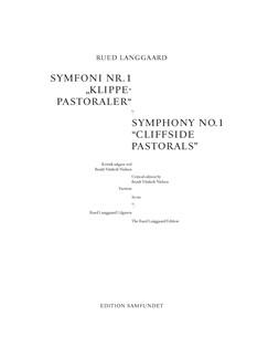 Rued Langgaard: Symphony No.1 'Klippepastoraler' ('Cliifside Pastorals') (Score) Bog | Orkester