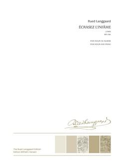 Rued Langgaard: Écrasez l'infâme (Score And Part) Books | Violin, Organ