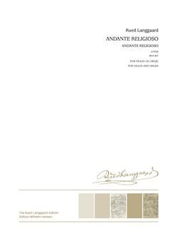 Rued Langgaard: Andante Religioso Bog | Violin, Orgel