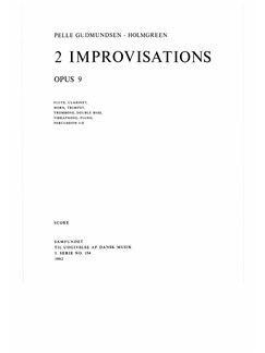 Pelle Gudmundsen-Holmgreen: 2 Improvisations, Op. 9 (Score) Books | Ensemble