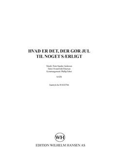 Peter Sander Andersen: Hvad Er Det Der Gør Jul Til Noget Særligt (SATB/PFA) Bog | SATB/Klaverakkompagnement