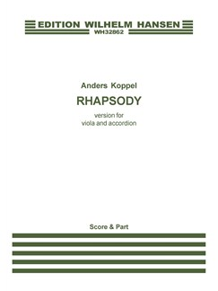 Anders Koppel: Rhapsody - 2012 Version (Score And Part) Books | Viola, Accordion