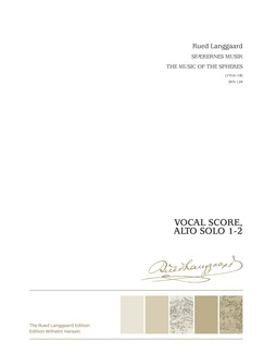 Rued Langgaard: Sfærernes Musik / The Music Of The Spheres (Vocal Score) Books | SATB, Alto