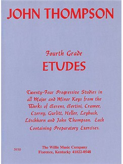 John Thompson's Modern Course For Piano: Fourth Grade Etudes Books | Piano