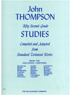 John Thompson's Modern Course For Piano: Fifty Second Grade Studies Books | Piano