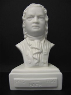 Composer Bust: Bach (Porcelain)  |
