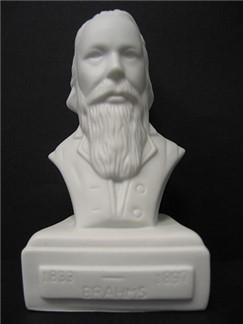 Composer Bust: Brahms (Porcelain)  |