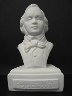 Composer Bust: Mendelssohn (Porcelain)  |