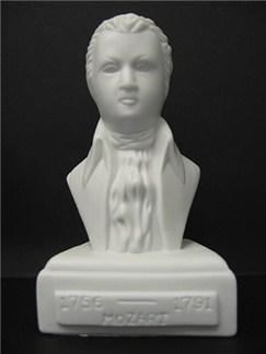 Composer Bust: Mozart (Porcelain)  |