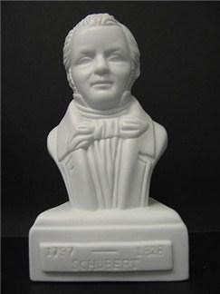 Composer Statuette: Schubert (Porcelain)  |