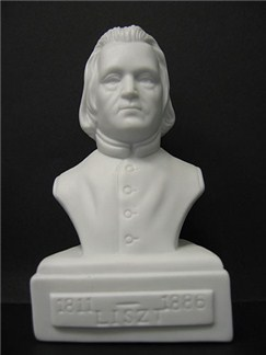 Composer Bust: Liszt (Porcelain)  |
