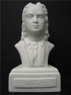 Composer Bust: Handel (Porcelain)  |