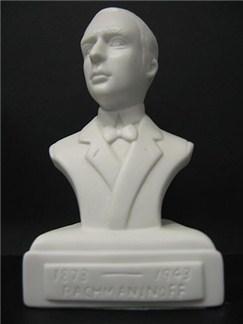 Composer Bust: Rachmaninov (Porcelain)  |