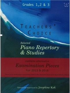 Josephine Koh: Teachers' Choice Piano Repertory 2015-2016 Grades 1-3 Books | Piano