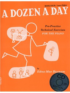 A Dozen A Day: Book Four - Lower-Higher (Book And CD) Books and CDs   Piano