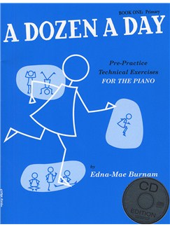 A Dozen A Day: Book One - Primary Edition (Book And CD) Books and CDs | Piano