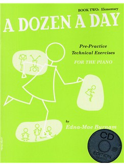 A Dozen A Day: Book Two - Elementary Edition (Book And CD) Books and CDs | Piano