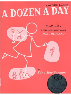 A Dozen A Day: Book Three - Transitional Edition (Book And CD) Books and CDs | Piano