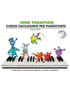 John Thompson's Corso Facilissimo Per Pianoforte: Terza Parte (Book/CD) Books and CDs | Piano
