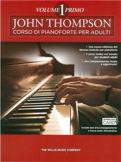 John Thompson: Corso Di Pianoforte Per Adulti (Libro/Download Card) Books and Digital Audio | Piano