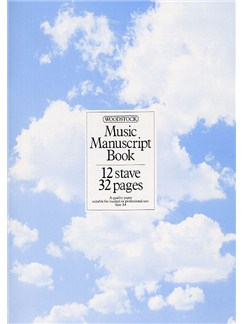 Woodstock Music Manuscript Paper: 12 Stave - 32 pages (A4 Stitched) Books |