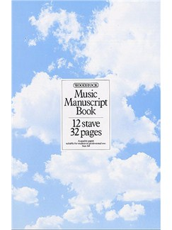 Woodstock Music Manuscript Paper: 12 Stave - 32 pages (A4 Spiral) Books |