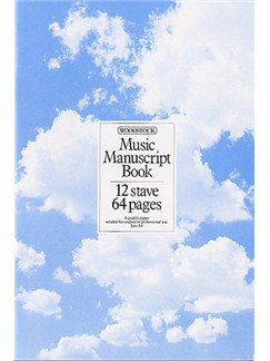 Woodstock Music Manuscript Paper: 12 Stave - 64 pages (A4 Stitched) Books |