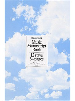 Woodstock Music Manuscript Paper: 12 Stave - 64 pages (A4 Spiral) Books |