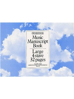 Woodstock Music Manuscript Paper: 4 Stave - 32 pages (A5L) Books |