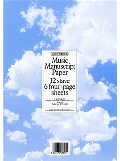 Woodstock: Music Manuscript Paper 12 Stave - 24 pages (A4) Books |