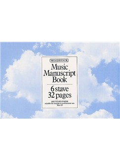 Woodstock Music Manuscript Paper: 6 Stave - 32 pages (A5L Recycled) Books |