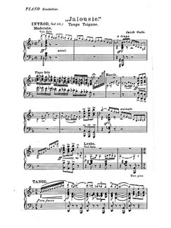 jacob gade tango jalousie parts orchestra sheet music sheet music songbooks. Black Bedroom Furniture Sets. Home Design Ideas