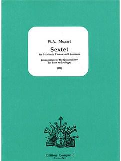 W.A. Mozart: Sextet (Horn Quintet K.407) Books | Wind Ensemble