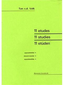 Tom Van Der Valk: Eleven Studies (Descant Recorder) Books | Soprano (Descant) Recorder