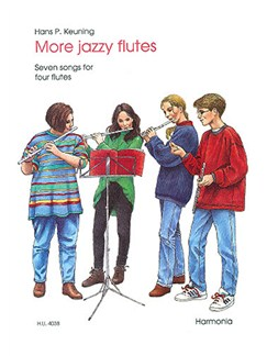 Hans P. Keuning: More Jazzy Flutes Books | Flute (Quartet)