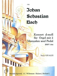 J.S. Bach: Organ Concerto In D Minor BWV 596 Books | Organ