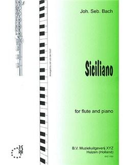 J.S. Bach: Siciliano (Flute) Books | Flute, Piano Accompaniment