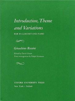Gioacchino Rossini: Introduction, Theme And Variations (Clarinet/Piano) Books | Clarinet, Piano Accompaniment