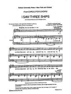 John Rutter: I Saw Three Ships (2/2 Time) Books | SATB, Piano Accompaniment