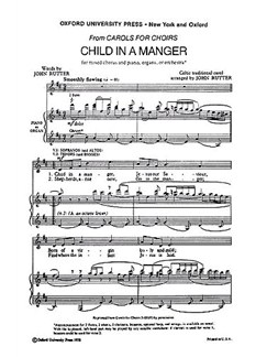 John Rutter: Child In A Manger (SATB) Books | SATB, Piano or Organ Accompaniment