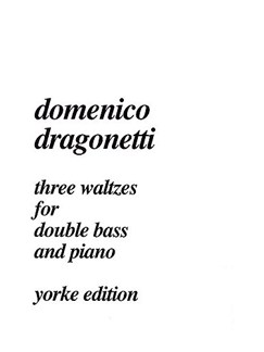 Domenico Dragonetti: Three Waltzes Books | Double Bass, Piano Accompaniment