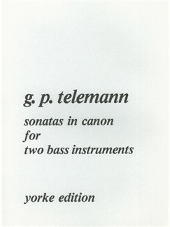 Georg Philipp Telemann: Sonatas In Canon For Two Bass Instruments Books | Bass Clef Instruments (Duet)