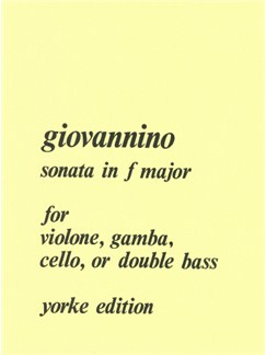 Don Giovannino: Sonata In F Major (Double Bass & Piano) Books | Double Bass, Piano Accompaniment