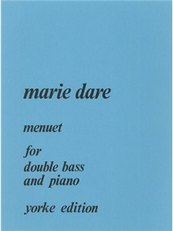 Marie Dare: Menuet Books | Double Bass, Piano Accompaniment