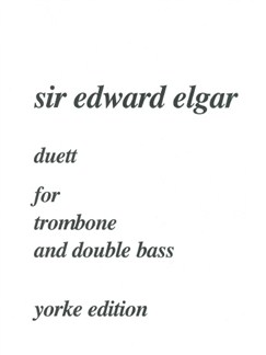 Edward Elgar: Duett For Trombone And Double Bass Books | Trombone, Double Bass