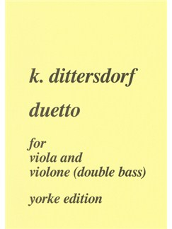 Duetto In E Flat For Viola And Bass Books | Double Bass