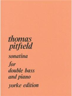 Thomas Pitfield: Sonatina For Double Bass And Piano Books | Double Bass, Piano Accompaniment