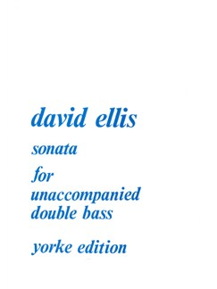 David Ellis: Sonata (1977) - Double Bass Books | Double Bass
